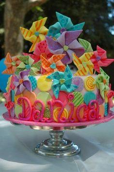 pinwheel cake | A 1 Nice Blog