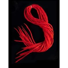 Loose Dreads Locks x5 Double Gothique Cyber Rouge