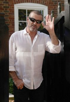 Hello million?: George Michael, seen here outside his house in Highgate, north London, after being released from prison in October after serving four weeks for crashing his car while high on drugs Beautiful Voice, Beautiful Men, Beautiful People, George Michael Dead, George Michel, Andrew Ridgeley, Walk Free, Now Magazine, Record Producer