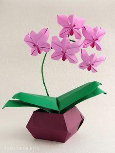 Resultado de imagem para origami orchid bouquet