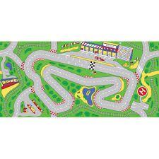 blank race track template
