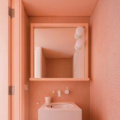 Pantone has recently unveiled the 2019 color of the year and the winner hue is Living Coral. This warm shade is referenced as Living Coral and is bound Coral Bathroom, Bathroom Colors, Design Bathroom, Small Bathroom, Bathroom Ideas, Pink Bathrooms, Bathroom Mural, Colorful Bathroom, Bathroom Makeovers