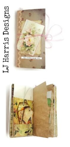 Tall Junk Journal available now on my etsy. This journal is a flower themed journal: £15.00 +pp