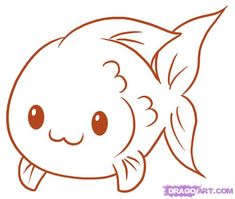 cute and easy to draw | how to draw a fish step 5