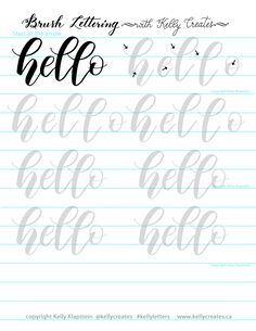Bouncy hello Vinyl fabric Writing started in order to make signs. Currently it offers creeped Brush Lettering Worksheet, Calligraphy Worksheet, Lettering Guide, Hand Lettering Practice, Hand Lettering Alphabet, Calligraphy Handwriting, Creative Lettering, Calligraphy Letters, Typography