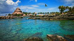 The Xcaret - an ecological park and resort in the Mayan Riviera in Cancun, Mexico. i love this place!