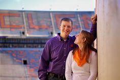 Clemson Girl Wedding Wednesday - Clemson engagement photos