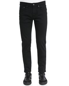 Slim-Fit Denim Jeans, Black, Size: 34 - Burberry Brit