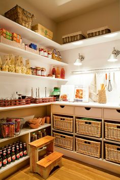 pantry - I wish I had this space Pantry Room, Pantry Storage, Kitchen Storage, Kitchen Decor, Interior Design Living Room, Living Room Designs, Sweet Home, Bar Interior Design, Pantry Design