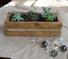 Кашпо (ящик для цветов Натуральное дерево