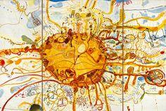 John Olsen, Sydney Sun (or King Sun) 1965 on The Spectator Australia Australian Painting, Australian Artists, Modern Art, Contemporary Art, Olsen, Limited Edition Prints, The Guardian, Art Reproductions, Abstract Art