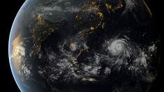 Le typhon Haiyan vu de l'Espace