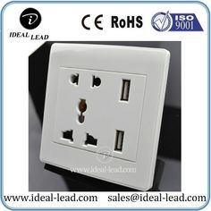 CE multi 5 pin female plug socket outlet with usb for Hotel