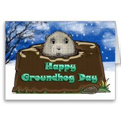 Happy Groundhog Day, Greeting Cards