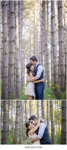 I love the forehead kiss and the background of the trees!
