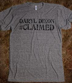 Daryl Dixon, The Walking Dead, #CLAIMED, Walking Dead, Zombies