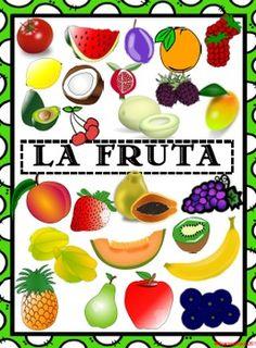 La Fruta- 8.5x11 posters  SUPER CUTE!!!  25 fruits included