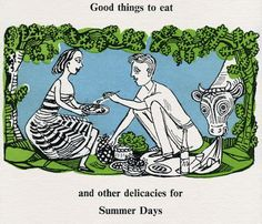 """Summer Days"" illustration by Edward Bawden for Fortnum & Mason"