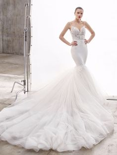 Shop our chic Enzoani Couture Wedding Dress and Bridal Gown Collection at Bridal Reflections. Contact us to schedule your private bridal appointment. Elegant Wedding Gowns, Luxury Wedding Dress, Bridal Dresses, Bridesmaid Dresses, Prom Dresses, Wedding Gown Gallery, Bridal Reflections, Dress Attire, Bridal And Formal