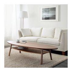 STOCKHOLM Couchtisch IKEA Tischplatte mit Nussbaumfurnier und Beine aus massiv Nussbaum sorgen für warme, natürliche Stimmung im Raum.