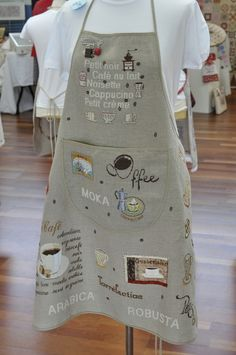 Fantastic embroidered aprons