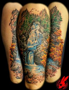 waterfall tattoo