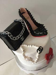 13th Birthday Cake For Girls, Elegant Birthday Cakes, 21st Birthday Cakes, Fondant Shoe Tutorial, Bag Cake, Purse Cakes, Foundant, Dragon Cakes, Shoe Cakes
