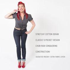 Women's Reinforced-Thigh Jeans