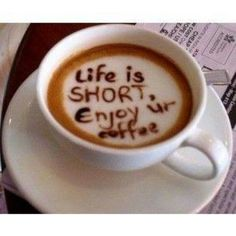 A daily large bitter cup of coffee makes a short life sweet #coffeequotes #goodmorning #love #coffee