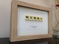 Personalised Mothers Day gift letter tile style wall art picture. Beautiful custom present. on Etsy, £12.99