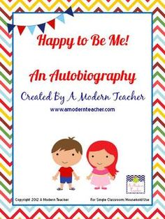 This is a perfect end of the year activity or beginning of the year activity.  It is not your normal autobiography packet.  This contains prompts t...