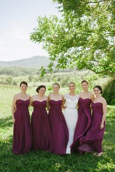 long plum bridesmaid dresses | Candi Coffman #wedding