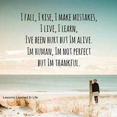I'm human, perfectly flawed.