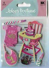 Jolee Boutique Stickers - Baby Girl - First Birthday - High Chair, Bib, Tiara