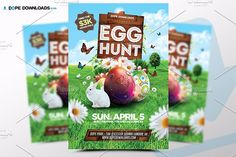 Easter Egg Hunt Flyer Template by DopeDownloads on @creativemarket