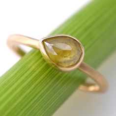 Yellow Pear Bloom Ring $800