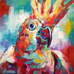 Cockatoo Acrylic on Canvas, 100x100cm www.joscoufreur.com FB:joscoufreur.artist