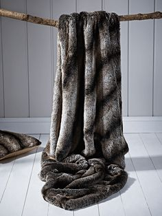 05c2f88c981 Supersoft Faux Fur Throw - Wolf Contemporary Interior Design, Luxury  Interior Design, Faux Fur
