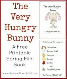 The Very Hungry Bunny Printable Book  - repinned by @PediaStaff – Please Visit ht.ly/63sNtfor all our pediatric therapy pins