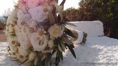 νυφικο μπουκετο απο λευκο λυσιανθο,χαμομηλι & ελια..Δεξίωση | Στολισμός Γάμου | Στολισμός Εκκλησίας | Διακόσμηση Βάπτισης | Στολισμός Βάπτισης | Γάμος σε Νησί - στην Παραλία.