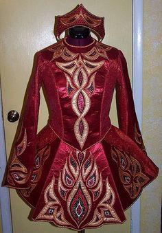 **Irish Dance Solo Dress Costume**