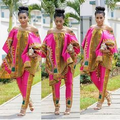 African dashiki top and pant, African women's clothing/ Ankara fashion/ African print/prom dress/Ankara dress/ African clothing/women's wear African Print Dresses, African Fashion Dresses, African Dress, African Attire, African Wear, African Women, African Fashion Designers, African Print Fashion, Africa Fashion