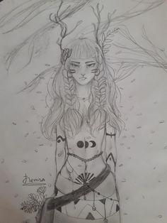 Girl drawing in pencil.🌸🌺 By Nemisa Anime monster