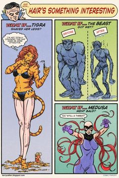 Hair's Something Interesting About Superheroes - Neatorama