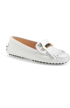 Tod's Fringe Driving Loafer (Women) available at #Nordstrom