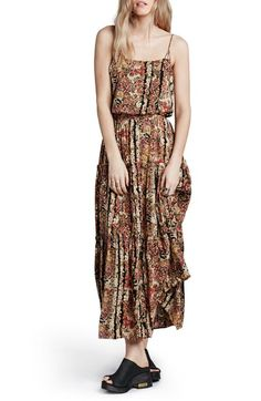 Free People 'Valerie' Floral Blouson Maxi Dress available at #Nordstrom