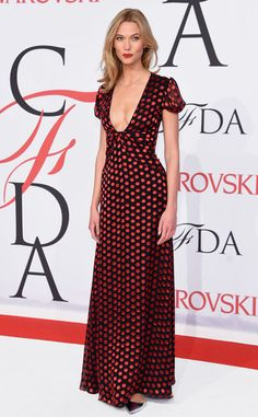 Karlie Kloss was also wearing DVF! Loved it! #CFDAAwards