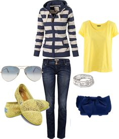 """""""Casual Stripes"""" by lee-sarah-m on Polyvore"""