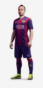 Nueva camiseta Nike del barcelona para la temporada 2014 2015