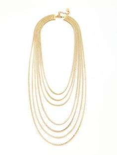 Graziano Gold multi strand necklace $48 #love